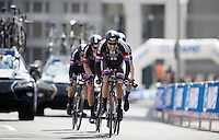 Tom Dumoulin (NLD/Giant-Alpecin) pulls his teammates into the last kilometer<br /> <br /> Elite Men&rsquo;s Team Time Trial<br /> UCI Road World Championships Richmond 2015 / USA