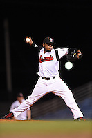 Nashville Sounds pitcher Jeremy Jeffress (32) delivers a pitch during a game against the Omaha Storm Chasers on May 19, 2014 at Herschel Greer Stadium in Nashville, Tennessee.  Nashville defeated Omaha 5-4.  (Mike Janes/Four Seam Images)