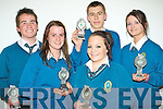 Winners of the Attendance award at The Mercy Mounthawk Transition Year Awards night held in The Siamsa Tire on Friday night were l/r Austin Hynes, Alison Murray, Cora Lyons, Paul Higgins and Laura Moore......................................................................................................................................................................................... ............