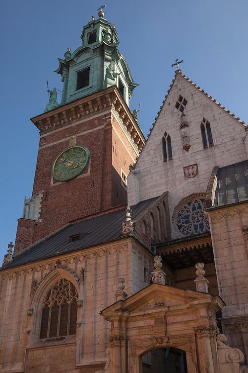 Built from 1320 to 1346, Wawel Cathedral is contained within Wawel Castle, Krakow, Poland