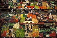 AJ1867, market, Mexico, Guadalajara, Colorful produce is displayed at the Mercado Libertad market in Guadalajara in the state of Jalsico.
