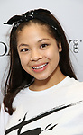 Eva Noblezada backstage at United Airlines Presents #StarsInTheAlley free outdoor concert in Shubert Alley on 6/2/2017 in New York City.