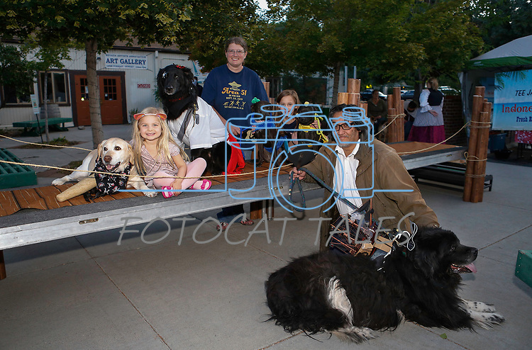 Contestants from the Scallywaggers Pirate Pup Parade at the Brewery Arts Center, in Carson City, Nev., on Wednesday, Sept. 18, 2019.<br />Photo by Cathleen Allison/Nevada Momentum