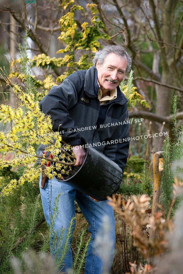 Ciscoe Morris is a garden writer, speaker, and travel leader based in Seattle, WA.  Here he takes time from late winter garden chores to pose for a few pictures in late January, 2007.