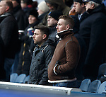 Hearts striker Ryan Stevenson in the stand