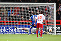 Steve Arnold of Stevenage saves a penalty from Tommy Miller of Swindon. Stevenage v Swindon Town - npower League 1 -  Lamex Stadium, Stevenage - 27th October, 2012. © Kevin Coleman 2012.