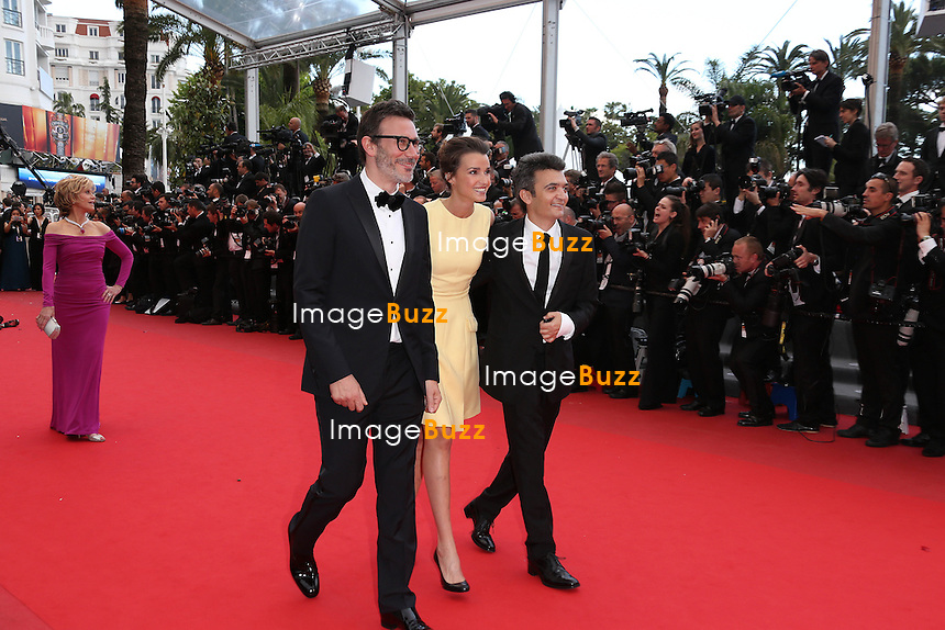 CPE/Michel Hazanavicius, Jerome Seydoux, Thomas Langmann and Celine Bosquet attends 'Inside Llewyn Davis' Premiere during the 66th Annual Cannes Film Festival at Palais des Festivals on May 19, 2013 in Cannes, France.