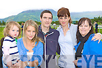 Cadhla, Claire, Shane Cunningham, Sarah O'Brien and Margaret Cunningham Tralee at the Killarney races on Tuesday