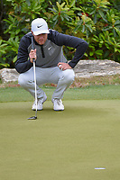 Lucas Bjerregaard (DEN) lines up his putt on 2 during day 5 of the WGC Dell Match Play, at the Austin Country Club, Austin, Texas, USA. 3/31/2019.<br /> Picture: Golffile | Ken Murray<br /> <br /> <br /> All photo usage must carry mandatory copyright credit (&copy; Golffile | Ken Murray)
