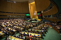 Nova York (EUA), 24/09/2019 - Assembléia Geral / ONU / Jair Bolsonaro - O presidente do Brasil Jair Bolsonaro durante abertura da 74ª Assembleia Geral da Organização das Nações Unidas (ONU)  em Nova York nos Estados Unidos nesta terça-feira, 24. (Foto: William Volcov/Brazil Photo Press/Agencia O Globo) Mundo