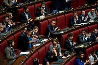 Roma, 31 Gennaio 2014<br /> Camera dei Deputati - Voto sulle pregiudiziali di costituzionalità della legge elettorale<br /> L''intervento di un deputato del Movimento 5 Stelle