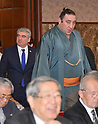 Georgian sumo wrestler Gorgadze attends news conference at Japan National Press Club
