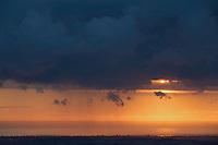 Sunrise over Rimini at the Adriatic Sea Coast, San Marino.