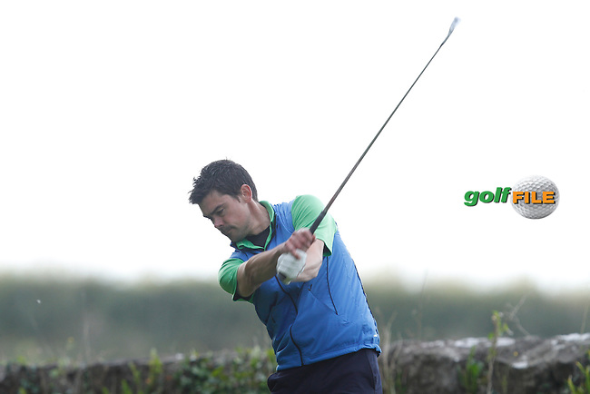 Zak Rouiller (Beech Park Golf Club) on the 8th tee during Round 1 of the 104th Irish PGA Championship at Adare Manor Golf Club on Thursday 2nd October 2014.<br /> Picture:  Thos Caffrey / www.golffile.ie