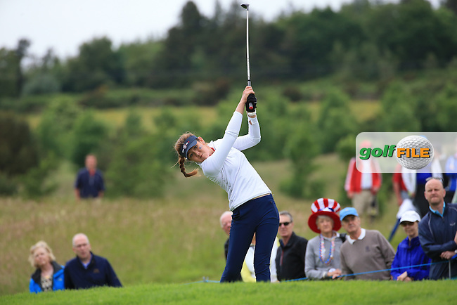 Hannah O'Sullivan during the Sunday Singles at the 2016 Curtis Cup, played at Dun Laoghaire GC, Enniskerry, Co Wicklow, Ireland. 12/06/2016. Picture: David Lloyd | Golffile. <br /> <br /> All photo usage must display a mandatory copyright credit to &copy; Golffile | David Lloyd.