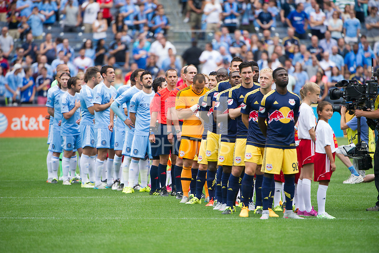 BRONX, NY - Sunday June 28, 2015: Expansion team New York City FC takes on the New York Red Bulls in their first ever meeting at home at Yankee Stadium during the MLS regular season.