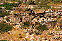 Abandoned farm ruins on Ios, Cyclades Islands, Greece