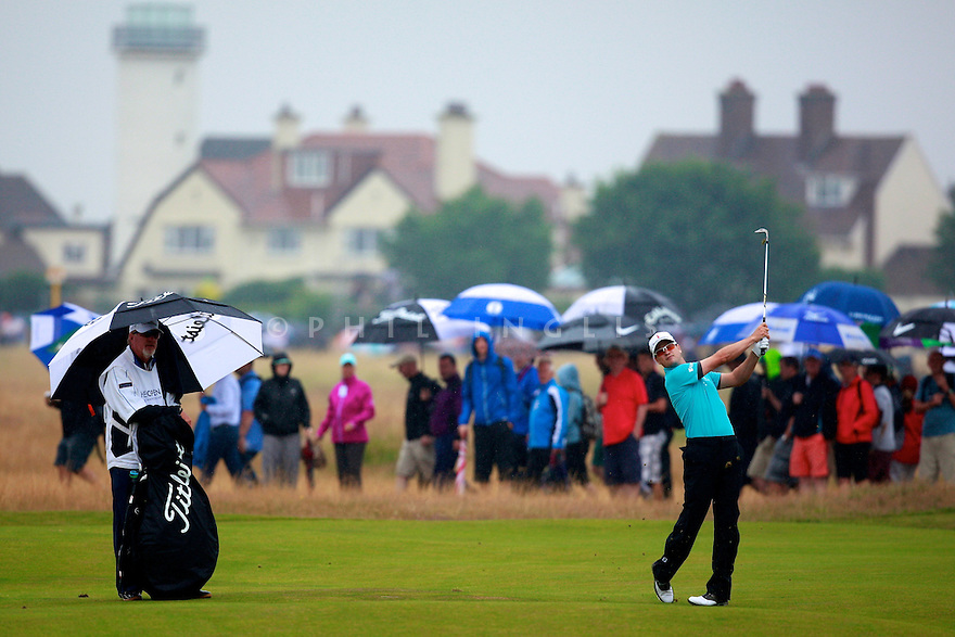 Zach Johnson (USA) in action during the third round of the 143rd Open Championship played at Royal Liverpool Golf Club, Hoylake, Wirral, England. 17 - 20 July 2014 (Picture Credit / Phil Inglis)