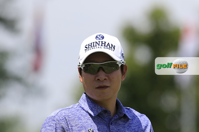 K.T.Kim (KOR) on the 10th tee during Wednesday's Practice Day of the 2016 U.S. Open Championship held at Oakmont Country Club, Oakmont, Pittsburgh, Pennsylvania, United States of America. 15th June 2016.<br /> Picture: Eoin Clarke | Golffile<br /> <br /> <br /> All photos usage must carry mandatory copyright credit (&copy; Golffile | Eoin Clarke)