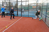 Den Bosch, The Netherlands, Februari 9, 2019,  Maaspoort , FedCup  Netherlands - Canada, Padel instruction<br /> Photo: Tennisimages/Henk Koster