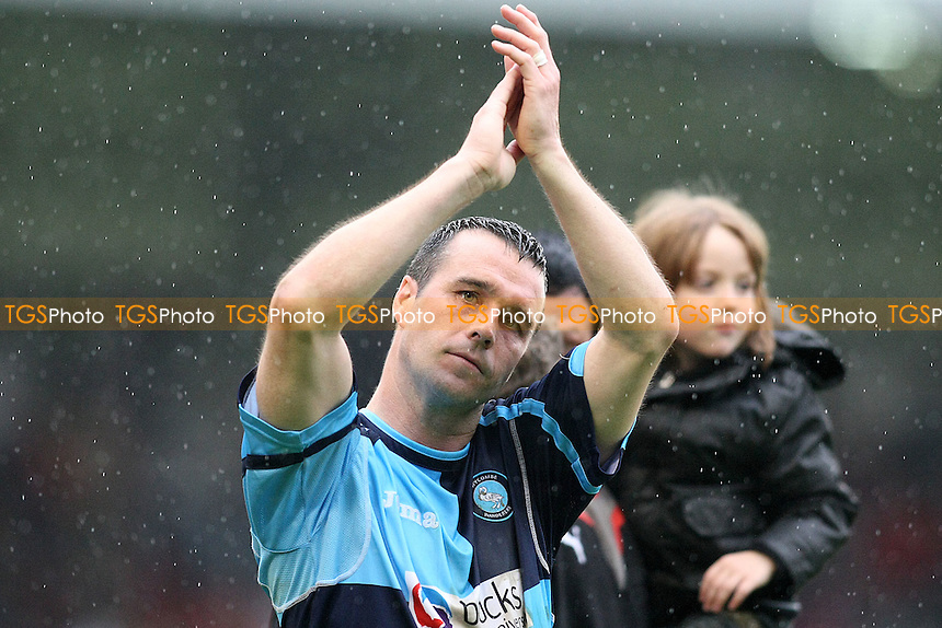 Orient scorer Scott Mcgleish is seen wearing shirt of his former team Wycombe- Leyton Orient vs Wycombe Wanderers - Coca Cola League One Football at Brisbane Road, Leyton, London - 01/05/10 - MANDATORY CREDIT: George Phillipou/TGSPHOTO - Self billing applies where appropriate - 0845 094 6026 - contact@tgsphoto.co.uk - NO UNPAID USE..
