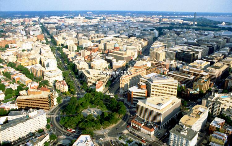 Aerial view of Dupont Circle in Washington DC