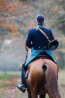 Europe/France/Centre/41/Loir-et-Cher/Sologne/Cheverny: Chasse à courre dans la forêt de Cheverny  -  avec l' Equipage de la Forêt des Loges  //  Europe/France/Centre/41/Loir-et-Cher/Sologne/Cheverny: Riding to hound , Cheverny Forest