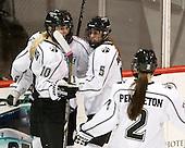 Molly Illikainen (PC - 10), Courtney Kukowski (PC - 5) - The Northeastern University Huskies defeated the visiting Providence College Friars 8-7 on Sunday, January 20, 2013, at Matthews Arena in Boston, Massachusetts.