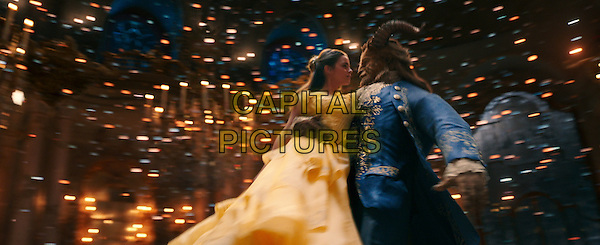 Beauty and the Beast (2017) <br /> Belle (Emma Watson) comes to realize that underneath the hideous exterior of the Beast (Dan Stevens) there is the kind heart of a Prince <br /> *Filmstill - Editorial Use Only*<br /> CAP/KFS<br /> Image supplied by Capital Pictures
