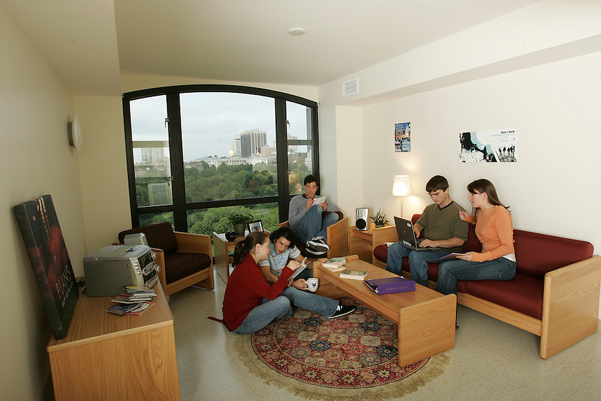 Piano Row, residence hall, student, students, male, female, viewbook
