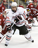 Cody Ferriero (Northeastern - 79) - The Northeastern University Huskies defeated the Harvard University Crimson 4-0 in their Beanpot opener on Monday, February 7, 2011, at TD Garden in Boston, Massachusetts.