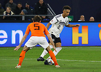 Thilo Kehrer (Deutschland Germany) gegen Daley Blind (Niederlande) - 19.11.2018: Deutschland vs. Niederlande, 6. Spieltag UEFA Nations League Gruppe A, DISCLAIMER: DFB regulations prohibit any use of photographs as image sequences and/or quasi-video.