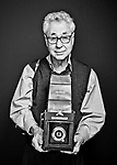 Elliott Erwitt photographed in his New York studio for the ART & SOUL book to promote arts funding in partnership with The Creative Coalition and Sony.
