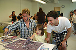 Billy Magnussen paints and Jake Silbermann checks out his painting at the 11th Annual SoapFest - Painting Party to benefit Marco Island YMCA, theatre program & Art League of Marco Island on May 2, 2009 on Marco Island, FLA. (Photo by Sue Coflin/Max Photos)
