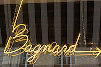 Europe, France, Ile de France, 75002, Paris: Restaurant , Bagnard (pan bagnat, concept de Yoni Saada) , 7, rue Saint-Augustin -enseigne lumineuse