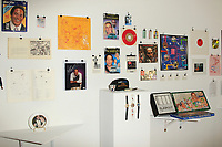 LOS ANGELES - AUG 17: OJ Simpson memorabilia at the OJ Simpson pop-up museum at the Coagula Curatorial Gallery on August 12, 2017 in Los Angeles, California