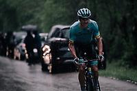 Jakob Fuglsang (DEN/Astana) breaking free at the front <br /> <br /> Stage 7: Saint-Genix-les-Villages to Pipay  (133km)<br /> 71st Critérium du Dauphiné 2019 (2.UWT)<br /> <br /> ©kramon
