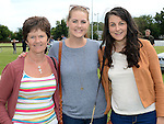 Maura and Ciara Conroy and Grace Coyle pictured at Ardee Rugby club's Family Fun day. Photo:Colin Bell/pressphotos.ie