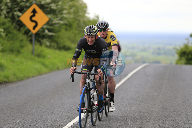 Sean McFadden (Donegal Voodoo Performance) and Aaron O'Brien (Limerick Newcastle West/Rockwell Engineering) on the first Cat 3 climb Loughcrew during Stage 1 of the 2017 An Post Ras running 146.1km from Dublin Castle to Longford, Ireland. 21st May 2017.<br /> Picture: Eoin Clarke | Cyclefile<br /> <br /> <br /> All photos usage must carry mandatory copyright credit (&copy; Cyclefile | Eoin Clarke)
