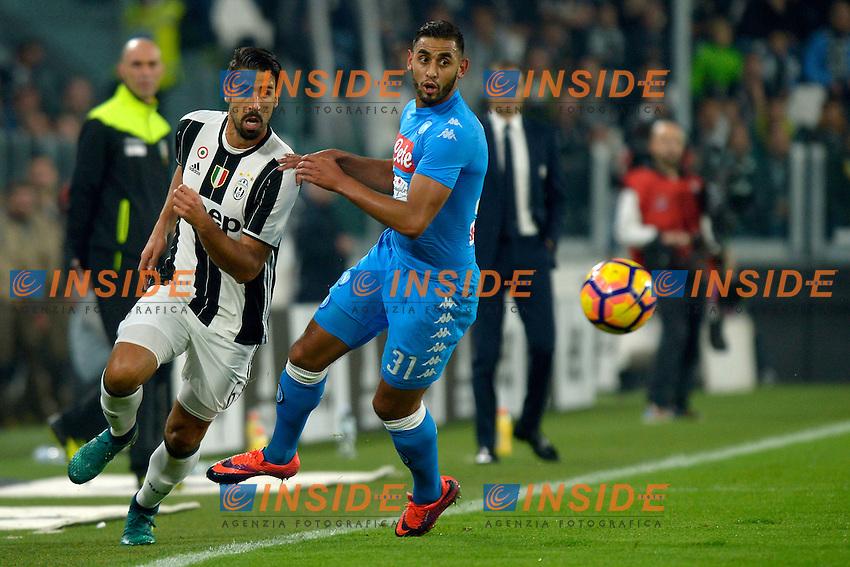 Sami Khedira Juventus, Faouzi Ghoulam Napoli <br /> Torino 29-10-2016 Juventus Stadium Football Calcio Serie A 2016/2017 Juventus - Napoli . Foto Filippo Alfero Insidefoto