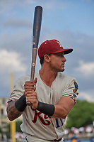 Frisco RoughRiders Christian Lopes (11) during a Texas League game against the Amarillo Sod Poodles on May 17, 2019 at Dr Pepper Ballpark in Frisco, Texas.  (Mike Augustin/Four Seam Images)