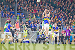 Johnny Buckley, Kerry in action against Ian Fahey, Tipperary in the first round of the Munster Football Championship at Fitzgerald Stadium on Sunday.