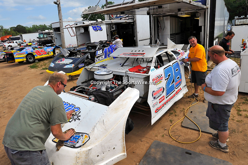 Aug 6, 2010; 3:31:11 PM; New Richmond, WI., USA; The 23rd Annual USA Nationals presented by U.S. Steel Corporation running a 50,000-to-win World of Outlaws Dirt Late Model Series sanctioned event at Cedar Lake Speedway.  Mandatory Credit: (thesportswire.net)