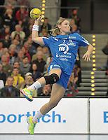 Handball 1. Bundesliga Frauen 2013/14 - Handballclub Leipzig (HCL) gegen Thüringer HC (THC) am 30.10.2013 in Leipzig (Sachsen). <br /> IM BILD: Natalie Augsburg (HCL) <br /> Foto: Christian Nitsche / aif