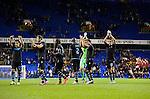 Tottenham Hotspur 0 Lazio 0, 20/09/2012. White Hart Lane, Europa League. Lazio players thank the travelling support. Photo by Simon Gill.
