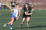 Santa Barbara, CA 02/18/12 - Maegan Cruse (UCSB #16) and Sheila Ghods (Washington #7) in action during the UCSB-Washington matchup at the 2012 Santa Barbara Shootout.  UCSB defeated Washington