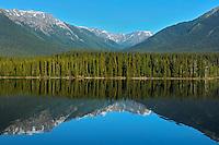 Coast Mountains and Eddontenajon Lake<br /> near Iskut along the Stewart Cassiar Highway<br /> British Columbia<br /> Canada