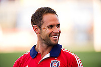 Daniel Paladini (11) of the Chicago Fire. The Chicago Fire defeated the Philadelphia Union 3-1 during a Major League Soccer (MLS) match at PPL Park in Chester, PA, on August 12, 2012.