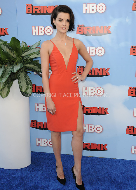 WWW.ACEPIXS.COM<br /> <br /> June 8 2015, Hollywood Ca<br /> <br /> Jaimie Alexander arriving at HBO's Brink premiere on June 8, 2015 at the Paramount Theater in Hollywood Ca.<br /> <br /> Please byline: Peter West/ACE Pictures<br /> <br /> ACE Pictures, Inc.<br /> www.acepixs.com<br /> Email: info@acepixs.com<br /> Tel: 646 769 0430