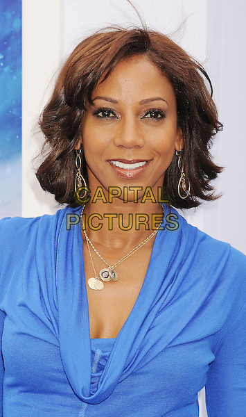 Holly Robinson Peete.The World Premiere of 'Happy Feet Two' held at The Grauman's Chinese Theatre in Hollywood, California, USA..November 13th, 2011.headshot portrait blue top cowl neck .CAP/ROT/TM.©Tony Michaels/Roth Stock/Capital Pictures